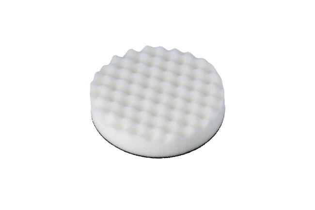 32273 Cutting/Compounding Corrugated Velcro White Pad 1pc