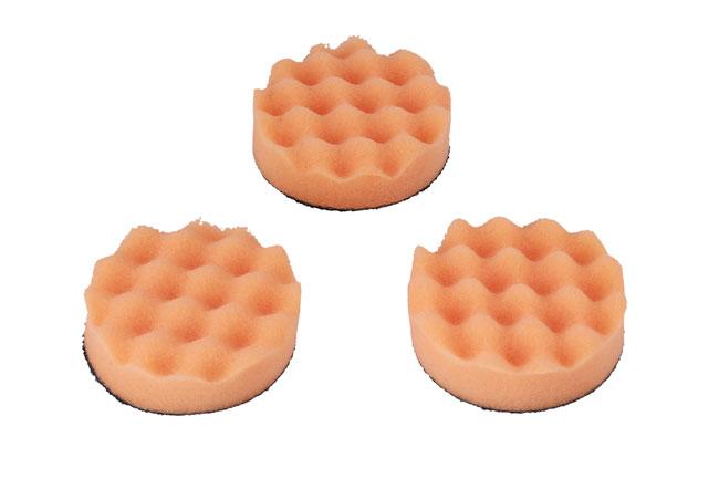 32277 Polishing Corrugated Velcro Orange Pad 3pc