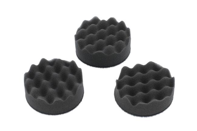 32278 Finishing Corrugated Velcro Black Pad 3pc