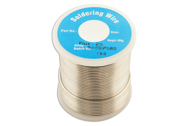 34945 Solder Wire 10 SWG/3.25mm 0.5kg Reel - Pack 1