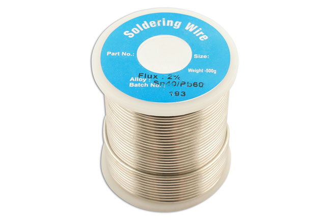 34947 Solder Wire 18 SWG/1.2mm 0.5kg Reel - Pack 1