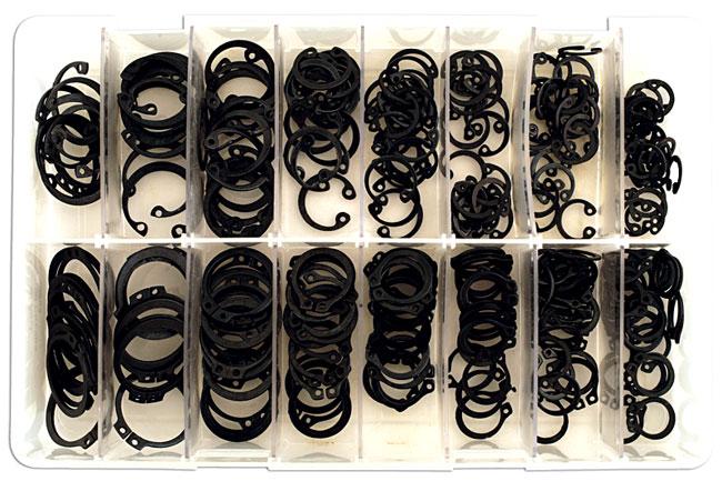 35004 Assorted Internal & External Metric Circlip Box - 280 Pieces