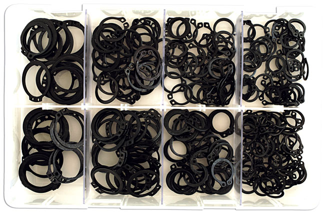 35005 Assorted External Metric Circlips Box - 250 Pieces
