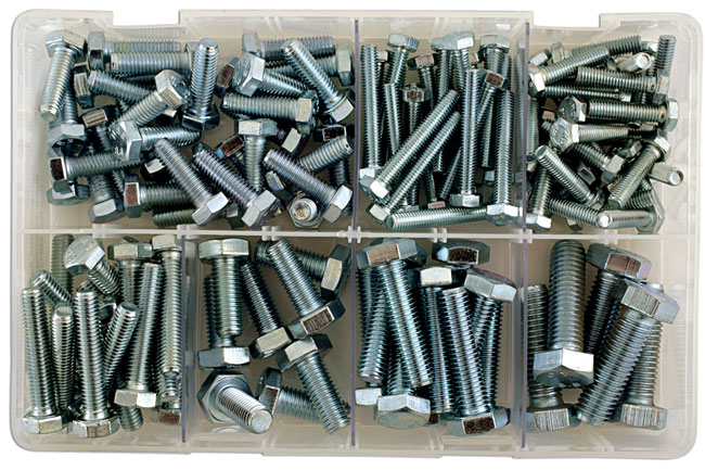 35014 Assorted Metric Setscrews M6  to  M12 Box - 150 Pieces