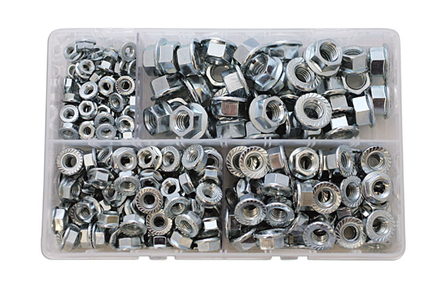 35015 Assorted Metric Flange Nuts Box - 225 Pieces