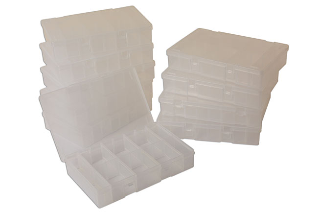 35019 Empty Assorted Boxes with 8 Dividers - Pack 10