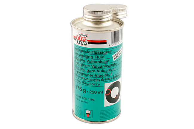 35096 Tube Patch Vulcanising Fluid 175g c/w brush 1pc
