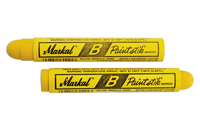 35100 Tyre Marker Pens-Yellow 12pc
