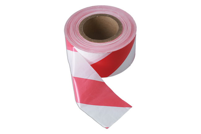35365 Red & White Barrier Tape 75mm x 500m Non Adhesive 1pc