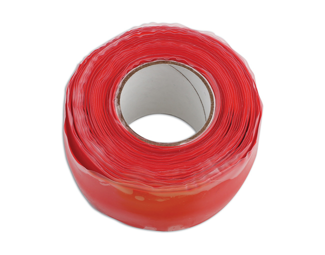 35491 Red Silicone Self Fusing Tape 25mm x 3m 1pc