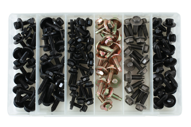 35993 Asstd Metal Body Screw Trim Fasteners - 100 Pieces