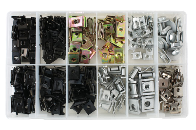 35995 Asstd Metal Trim Nuts & U Nuts - 245 Pieces