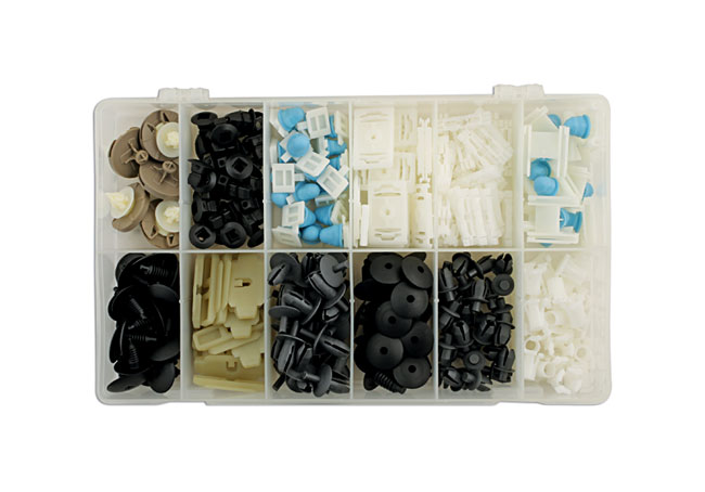 36030 VW Assorted Trim Clips - 255 Pieces