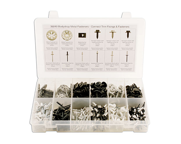 Laser Tools 36040 Assorted Bodyshop Metal Fasteners 400pc