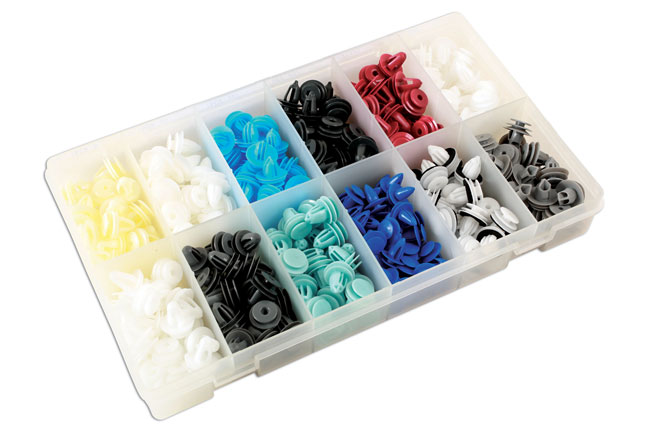 Laser Tools 36047 Assorted Box of Panel Clips Asian Market 335pc