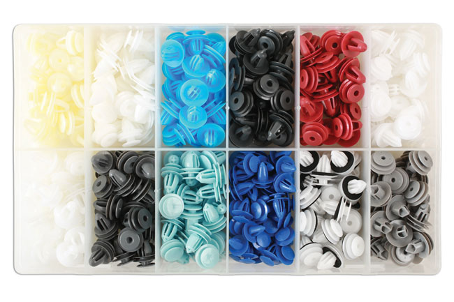 36047 Assorted Box of Panel Clips Asian Market - 335 Pieces