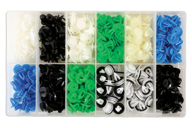 36048 Assorted Box of Panel Clips European Market - 320 Pieces