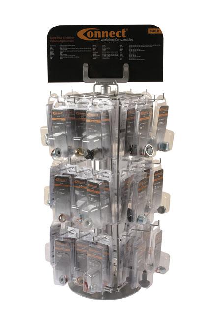 36810 Sump Plug Rack c/w 72 Packs.