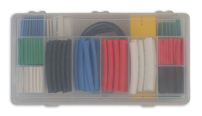 36818 Assorted Heat Shrink Sleeving - 171 Pieces