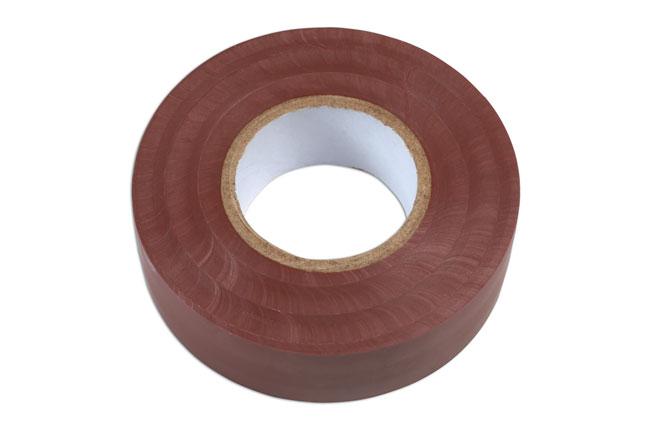 36889 Brown PVC Insulation Tape 19mm x 20m - Pack 1