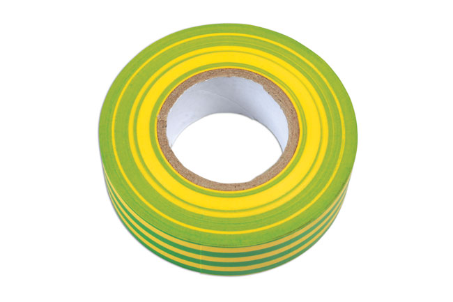 36891 Green & Yellow PVC Insulation Tape 19mm x 20m - Pack 1