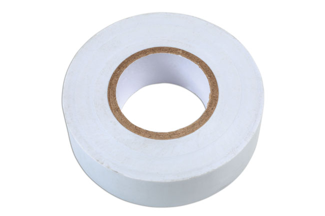 36894 White PVC Insulation Tape 19mm x 20m - Pack 1