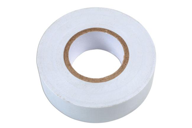 30381 White PVC Insulation Tape 19mm x 20m 10pc