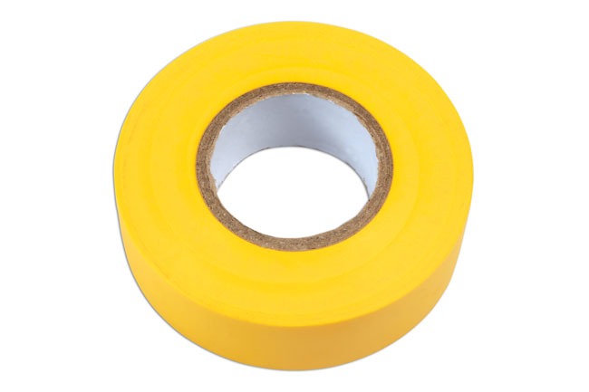 36895 Yellow PVC Insulation Tape 19mm x 20m - Pack 1