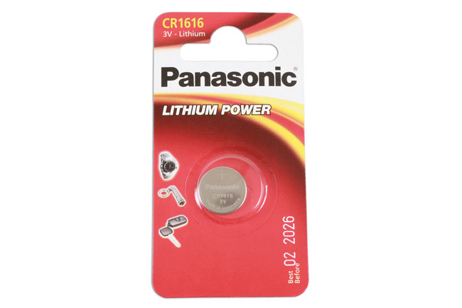 36905 Panasonic Coin Cell Battery CR1616 - Pack 1