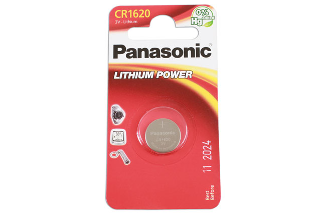 36906 Panasonic Coin Cell Battery CR1620 - Pack 1