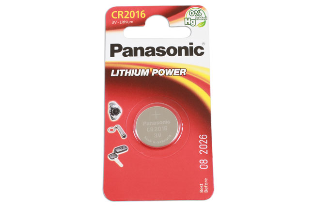 36907 Panasonic Coin Cell Battery CR2016 - Pack 1