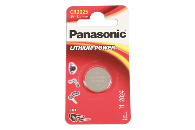 36908 Panasonic Coin Cell Battery CR2025 - Pack 1