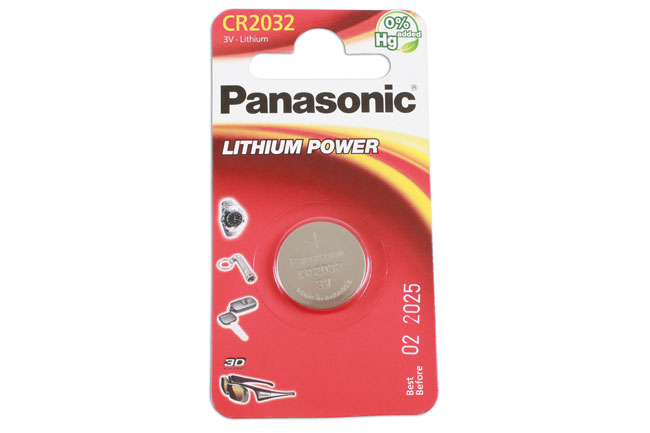 36909 Panasonic Coin Cell Battery CR2032 - Pack 1