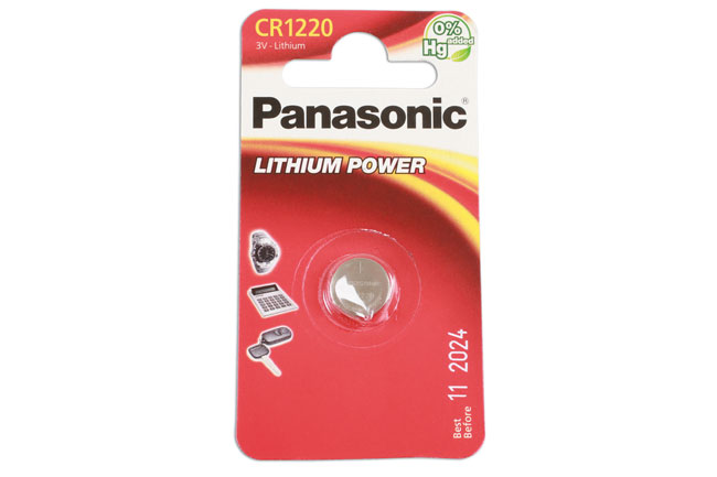 36910 Panasonic Coin Cell Battery CR1220 - Pack 1