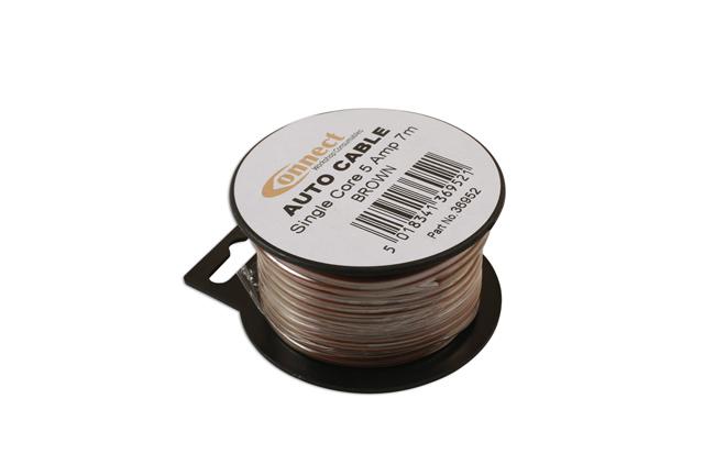 36952 Mini Reel Automotive Cable 5A Brown 7m