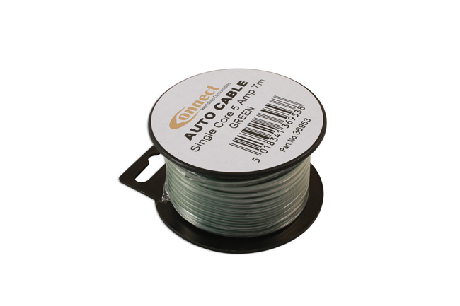 36953 Mini Reel Automotive Cable 5 Amp Green 7m