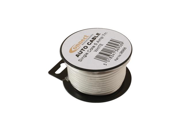 36956 Mini Reel Automotive Cable 5A White 7m