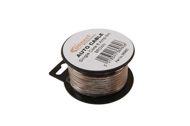 36960 Mini Reel Automotive Cable 8A Brown 6m