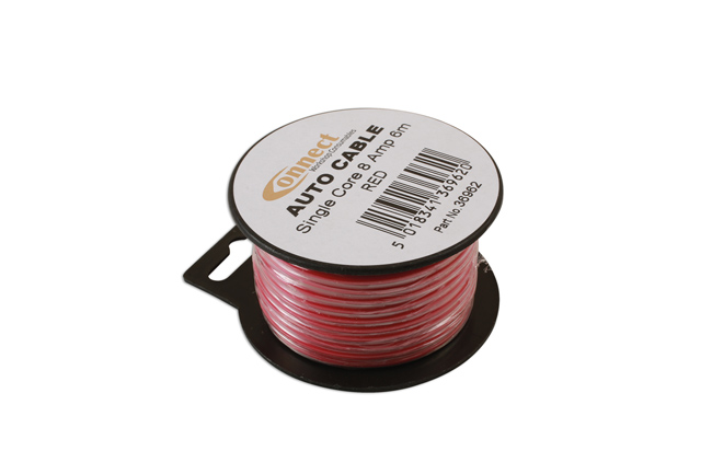 36962 Mini Reel Automotive Cable 8 Amp Red 6m