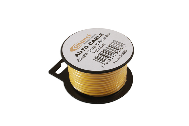 36963 Mini Reel Automotive Cable 8 Amp Yellow 6m