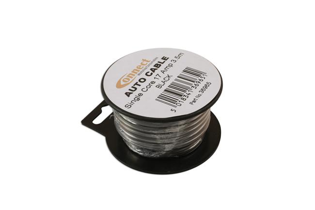 36965 Mini Reel Automotive Cable 17A Black 3.5m
