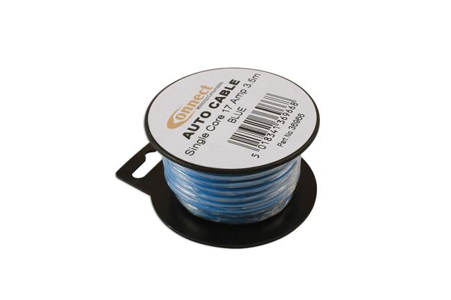 36966 Mini Reel Automotive Cable 17A Blue 3.5m
