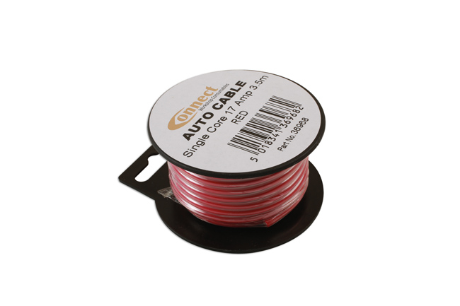 36968 Mini Reel Automotive Cable 17 Amp Red 3.5m