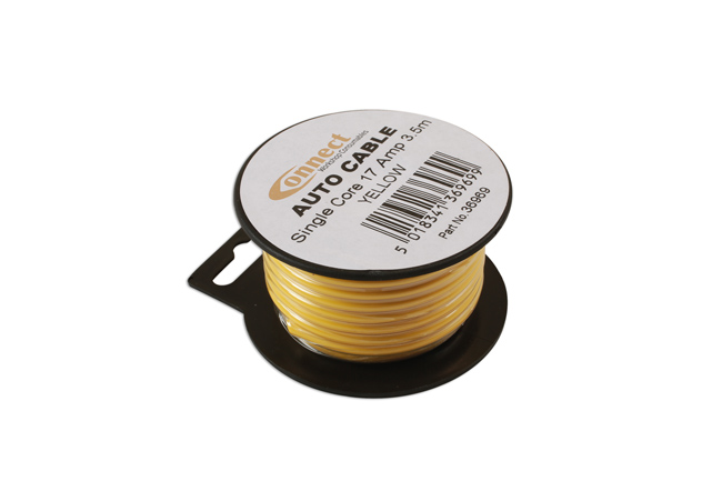 36969 Mini Reel Automotive Cable 17 Amp Yellow 3.5m