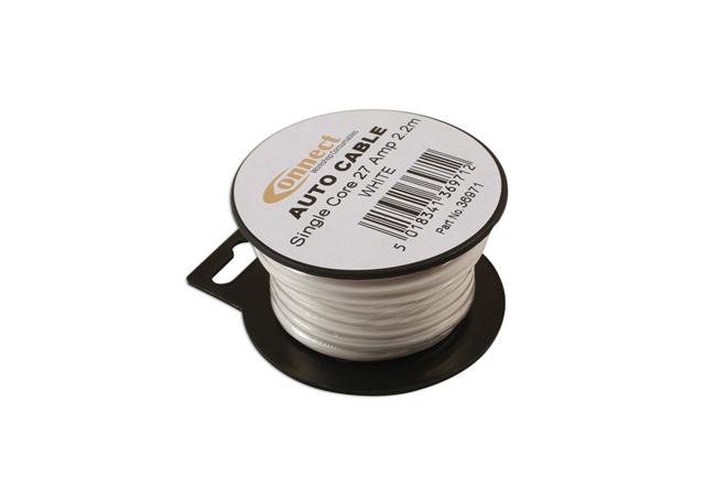36971 Mini Reel Automotive Cable 27A White 2.2m