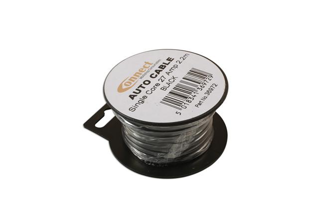 36972 Mini Reel Automotive Cable 27A Black 2.2m