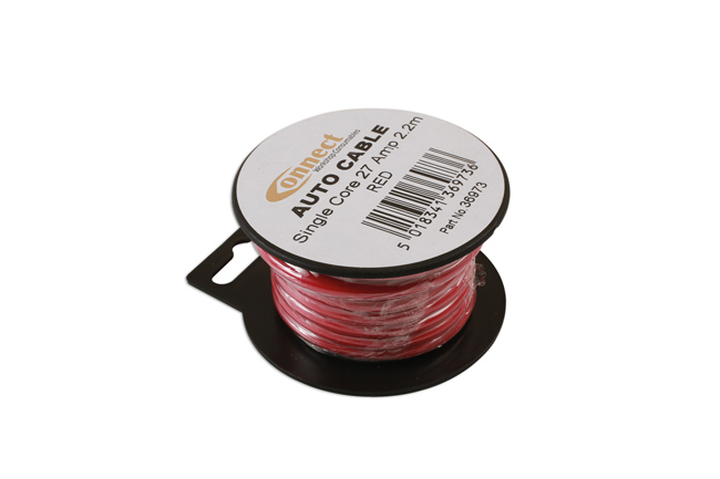 36973 Mini Reel Automotive Cable 27 Amp Red 2.2m