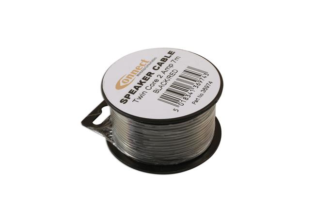36974 Mini Reel Automotive Twin Speaker Cable 2 x 12/0.20 7m