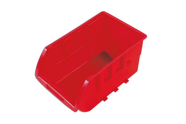 36993 Red Storage Bins 237mm x 144mm x 125mm - Pack 20