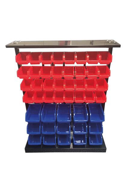 36998 47 Storage Bin System with Bins and Metal Rack